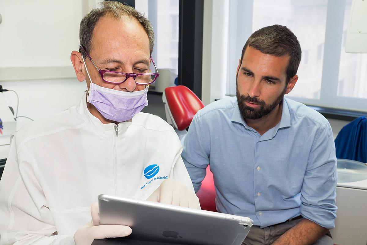 Il dottor Bombardelli spiega a Marco il suo intervento